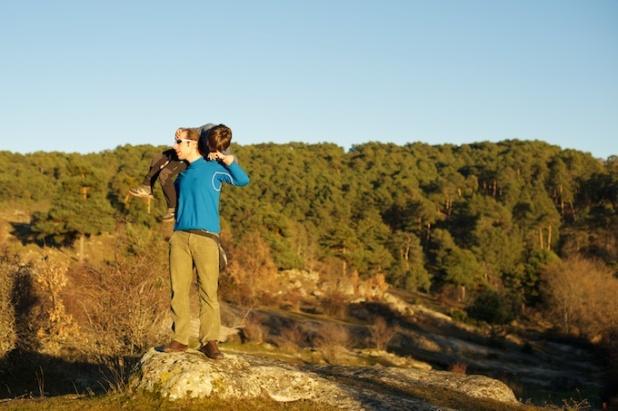 Javi y Mateo en Regumiel de la Sierra